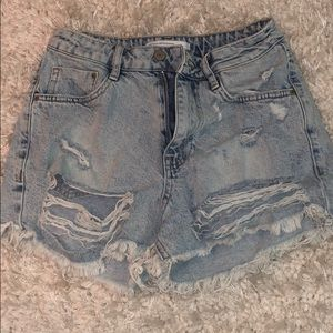 Jean shorts from Zara